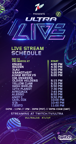 ultra timetable