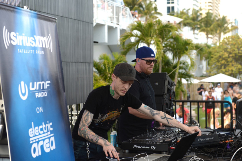 """MIAMI, FLORIDA - MARCH 18: Prydz & Deadmau5 performs at SiriusXM's 'UMF Radio' Broadcast Live From The SiriusXM Music Lounge at 1 Hotel South Beach at 1 Hotel South Beach on March 18, 2016 in Miami, Florida. (Photo by Gustavo Caballero/Getty Images for SiriusXM)"""