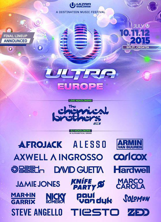 Ultra Europe má kompletní line-up.